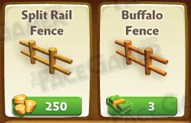 Buffalo Fences vs Split Rail Fences in FarmVille 2 by Zynga